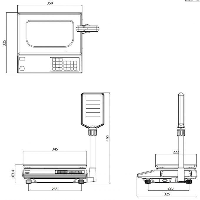 Obchodná váha CAS AP-1 (Morcan)