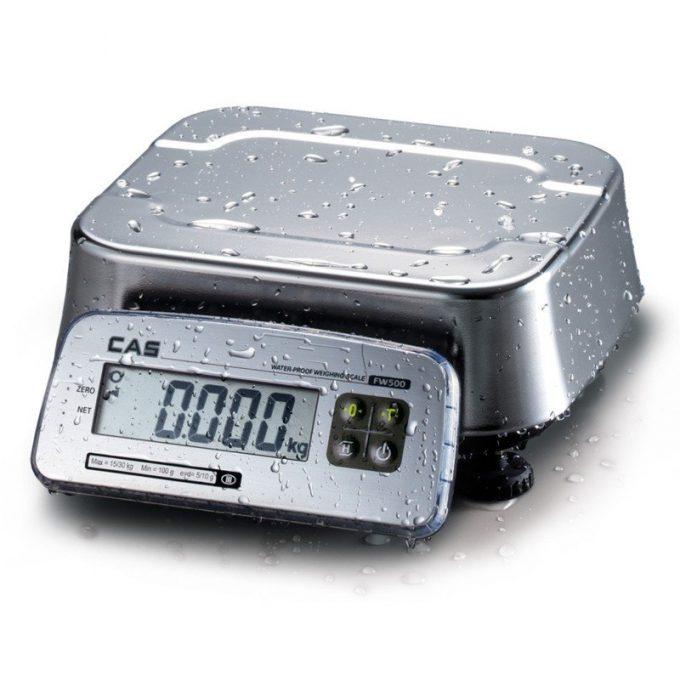 Vodotesná váha CAS FW-500 do 15 kg