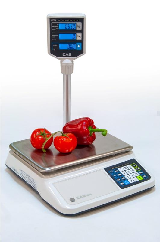 Obchodná váha CAS PR-II P do 15 kg