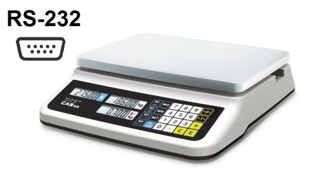 Obchodná váha CAS PR-II B-RS do 15 kg