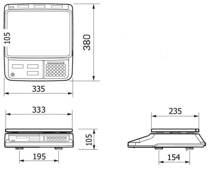 Obchodná váha CAS PR-II B-USB do 15 kg