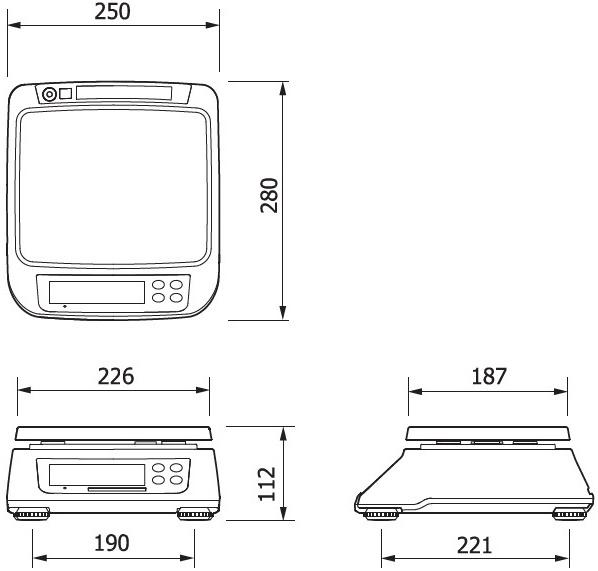 Obchodná váha CAS SW-2 RS do 15 kg