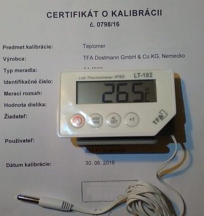 Teplomer TFA pre chladničku a mrazničku kalibrovaný v -22, -20, -18, 2, 6 a 10 °C