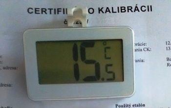 Teplomer digitálny chladničkový – kalibrovaný v bodoch 2, 6, 10 °C