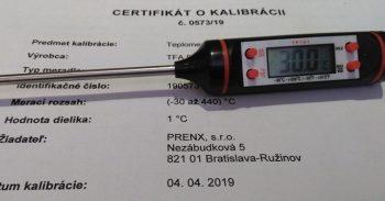 Vpichový teplomer digitálny-kalibrovaný v bodoch 60,65,70 a 180 °C