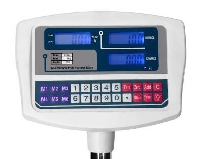 Kontrolná váha TCS 80x60 do 300 kg s opierkou