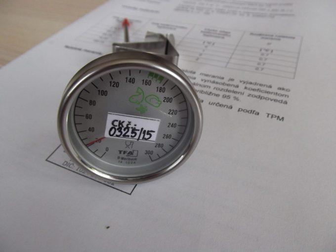 Vpichový teplomer-kalibrovaný v bodoch 60,65,70 a 180 °C