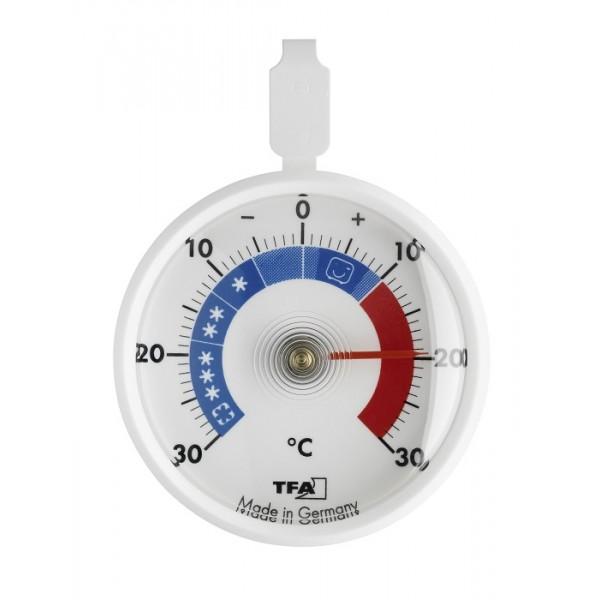 Bimetalový teplomer do chladničky a mrazničky kalibrovaný v -22, -20, -18, 2, 6 a 10°C