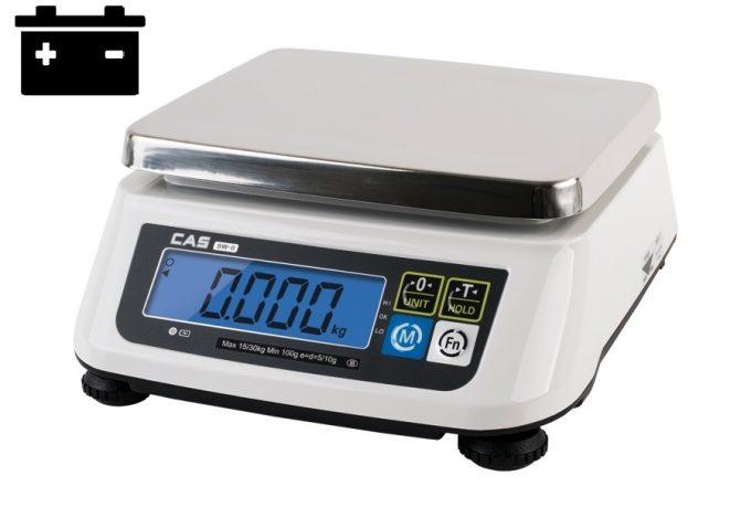 Gastro váha CAS SW-2 do 6 kg s akumulátorom (váha na gramy)