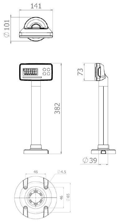 Váhoskener CAS PDS do 15 kg + skener Zebex-Z6182 RS