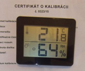 Vlhkomer s teplomerom TFA-kalibrovaný pre suchý a chladený sklad
