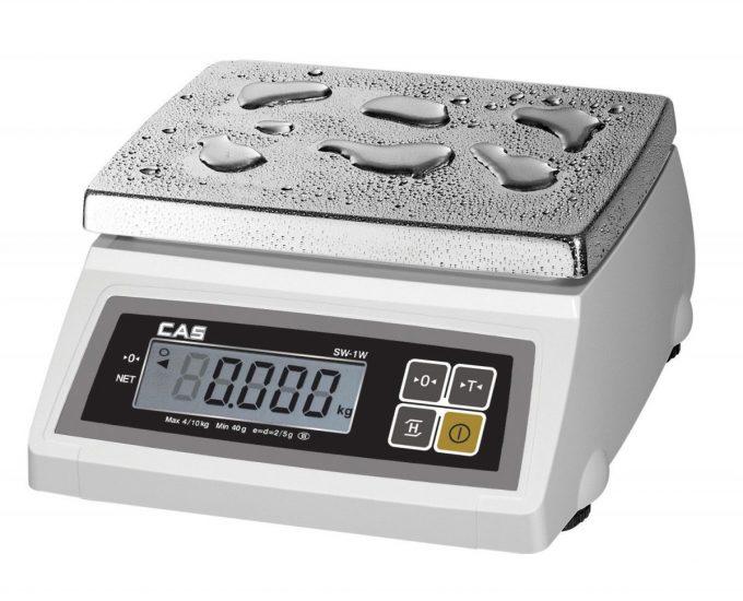 Vodeodolná váha CAS SW-1 W do 10 kg