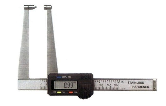 Posuvné meradlo so špicatým dotykom