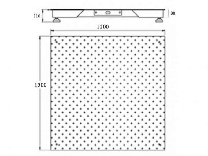 Plošinová váha do 3 ton 120x150 cm