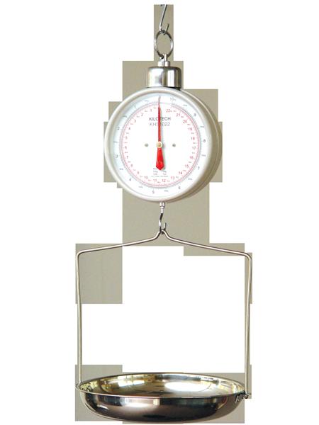 Závesná mechanická váha do 20 kg s miskou