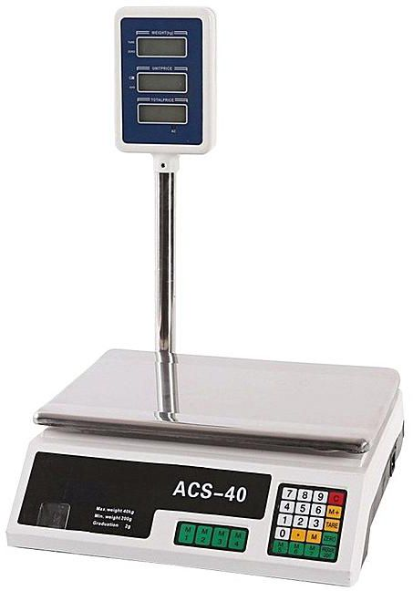 Kontrolná váha s displejom na stĺpiku ACS do 40 kg