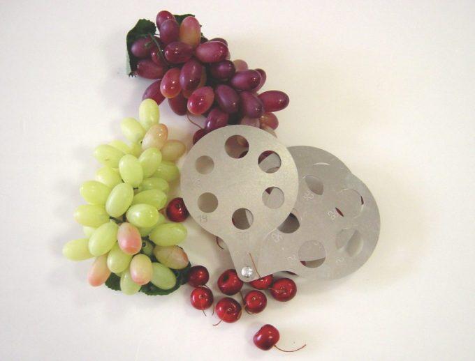 šablóny na bobuľové ovocie