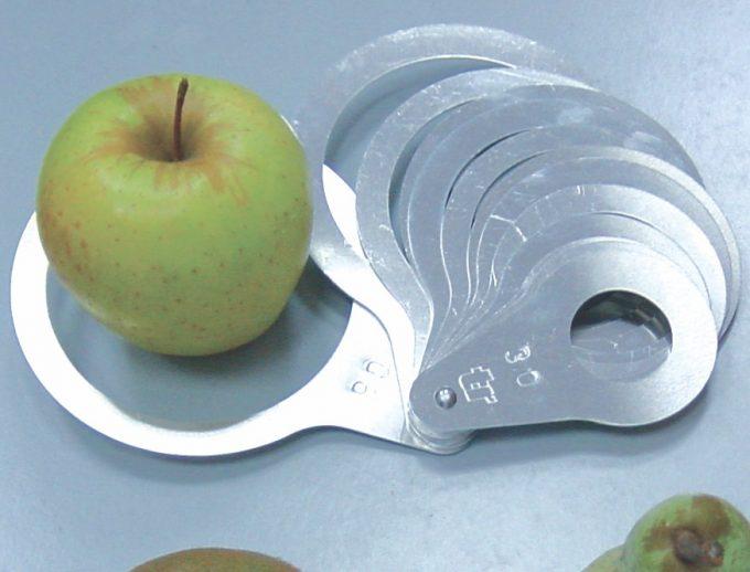 šablóny na meranie veľkosti jabĺk